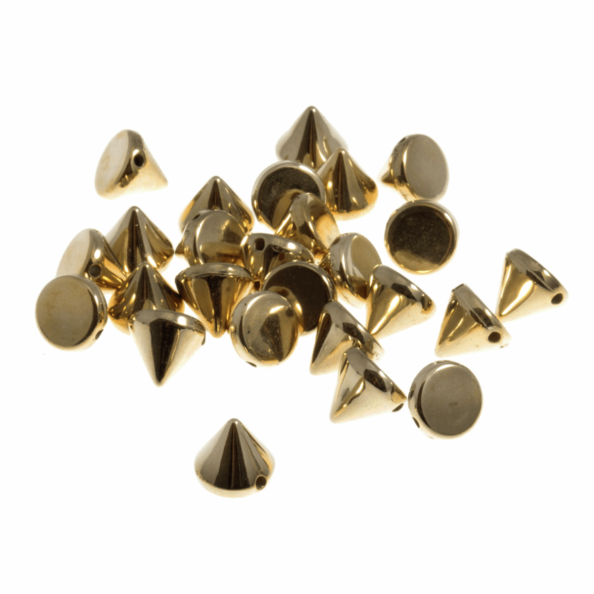 Picture of Studs: Sew-on: Cone: Gold: 8 x 8mm: 80 Pack