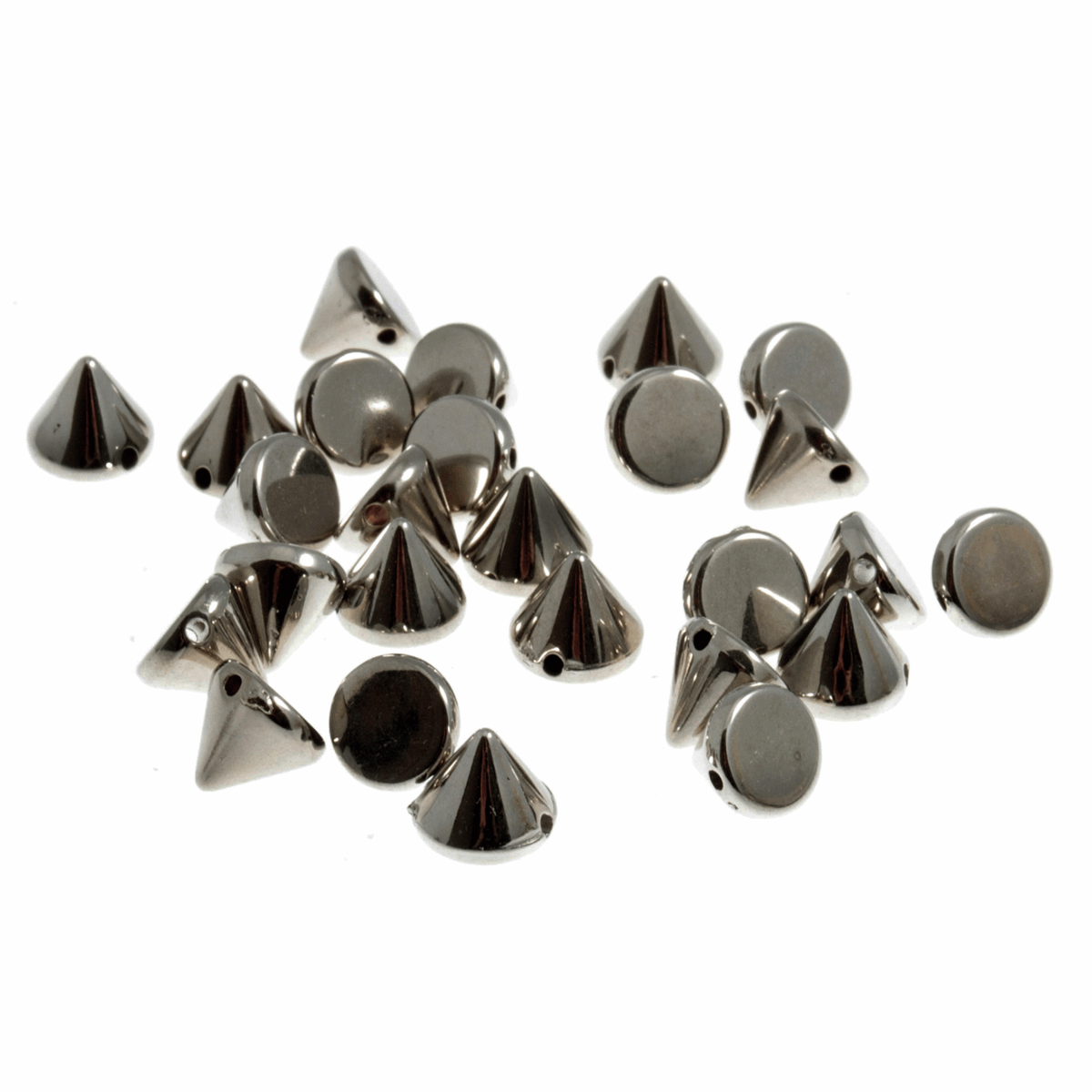 Picture of Studs: Sew-on: Cone: Silver: 8 x 8mm: 80 Pack