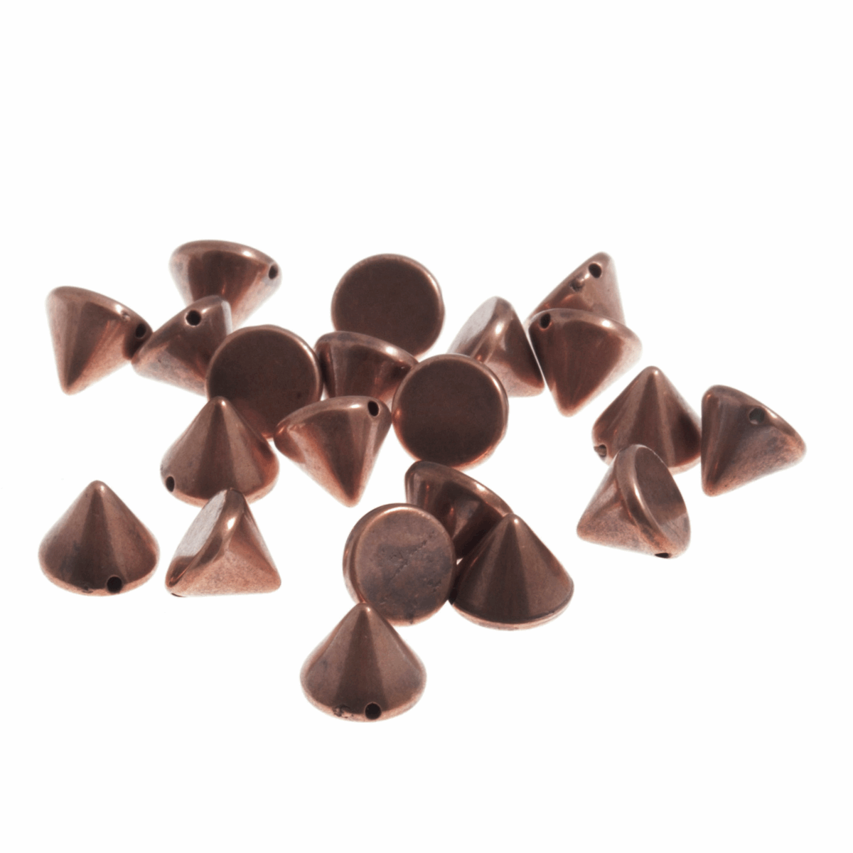 Picture of Studs: Sew-on: Cone: Copper: 10 x 7mm: 50 Pack