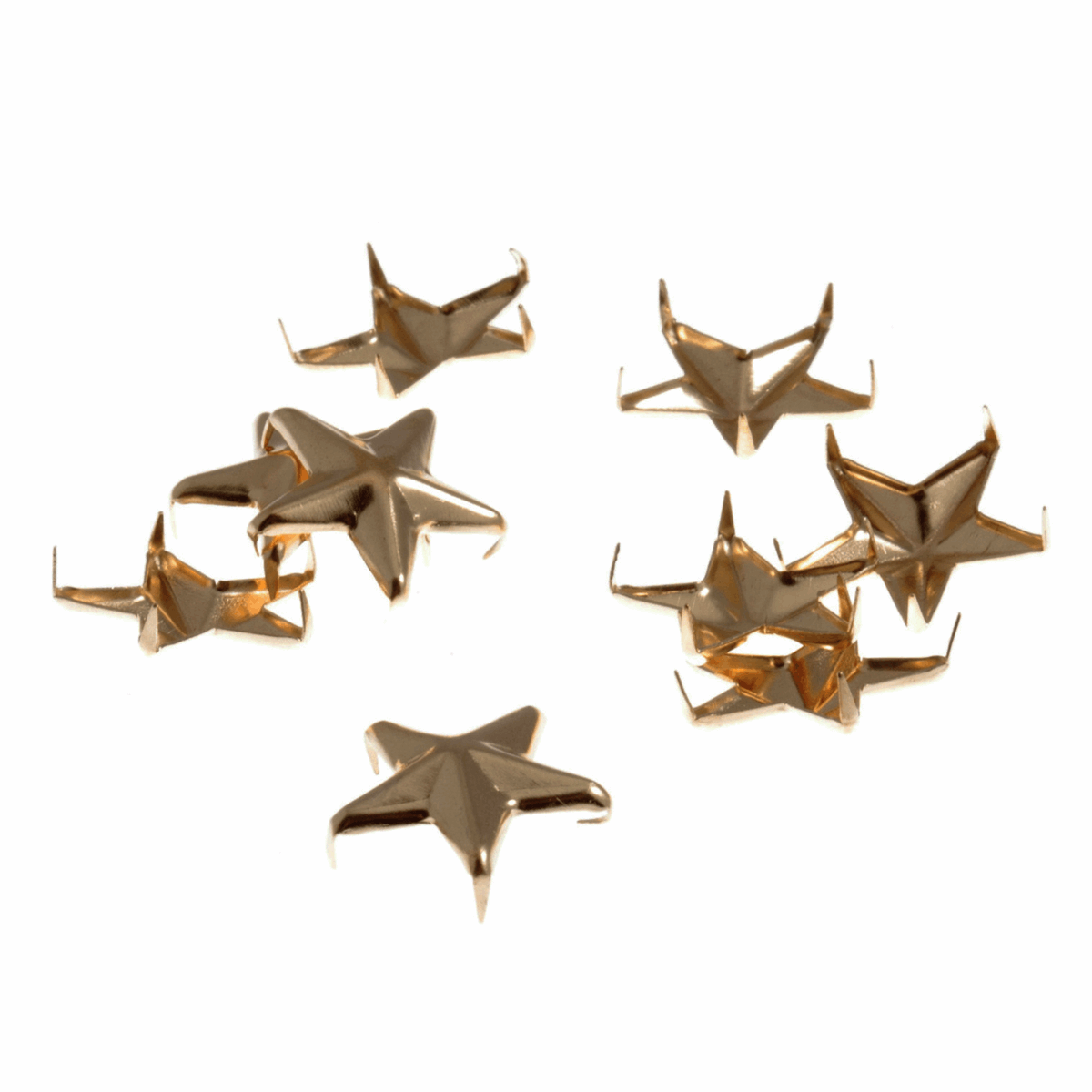 Picture of Studs: Claw: Star: Gold: 16mm: 12 Pack