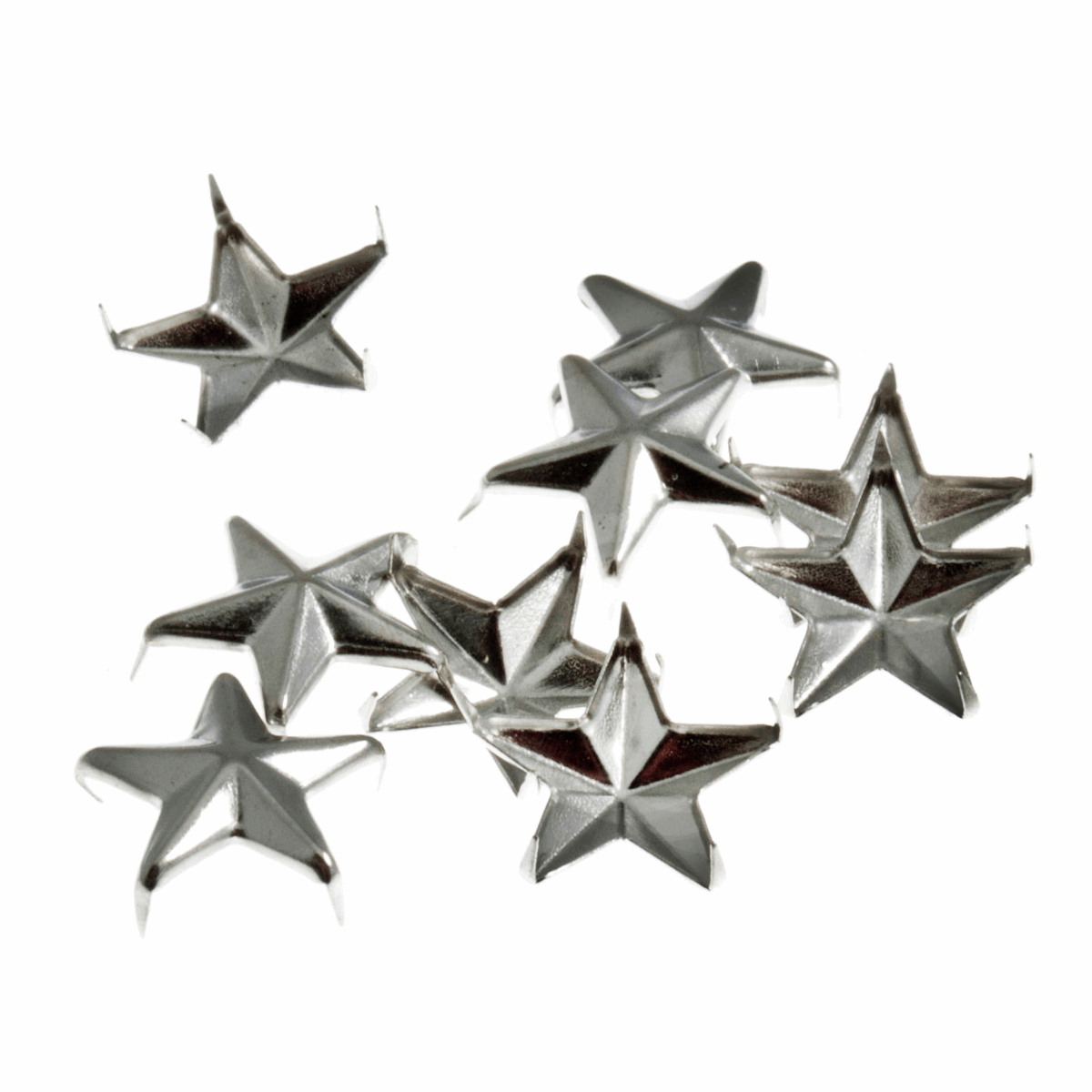 Picture of Studs: Claw: Star: Silver: 16mm: 12 Pack