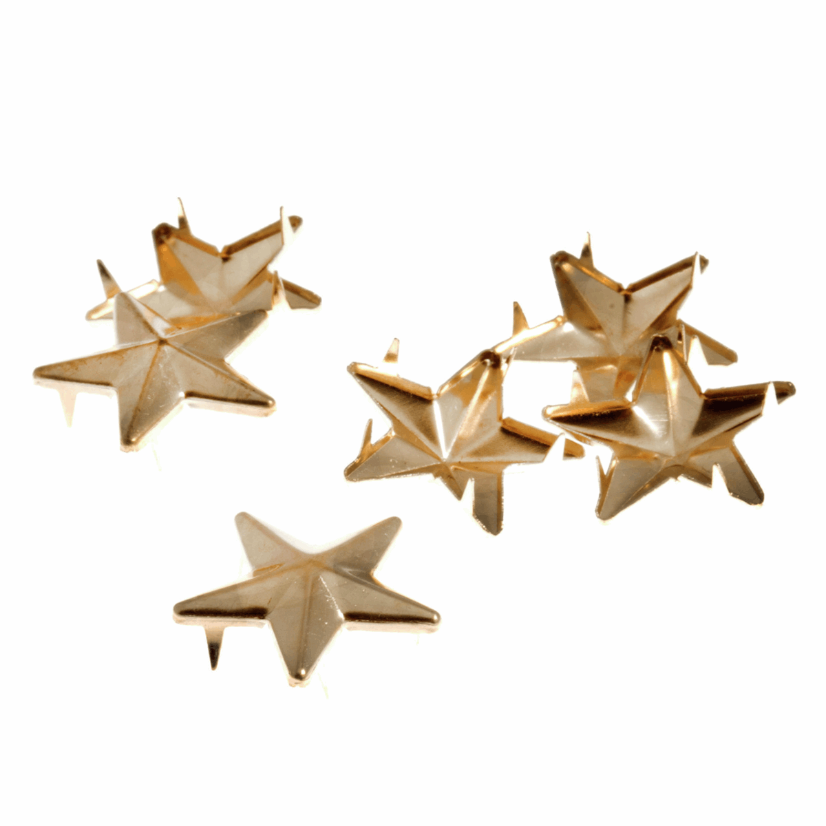 Picture of Studs: Claw: Star: Gold: 21mm: 8 Pack