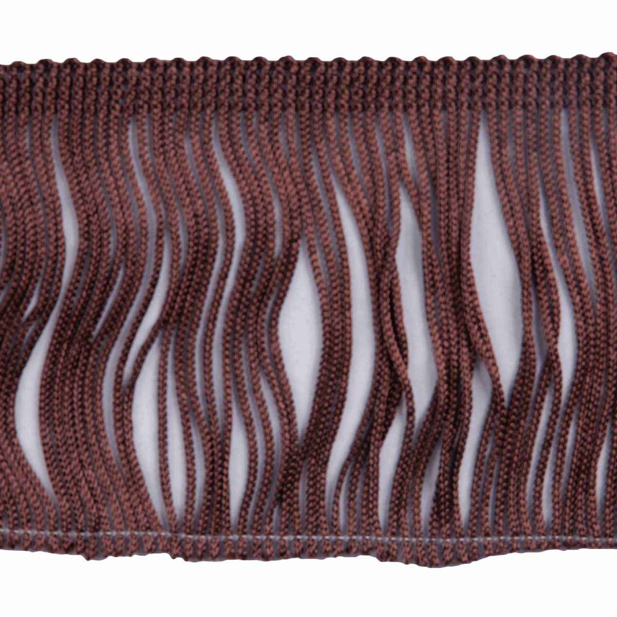 Picture of Fringe: Chainette: 5m x 12.5cm: Brown