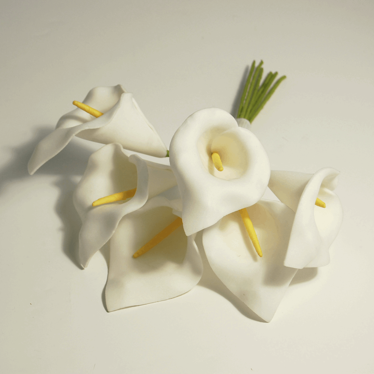 Picture of Spray: Calla Lily: Polyfoam: 6cm: Pack of 6: White