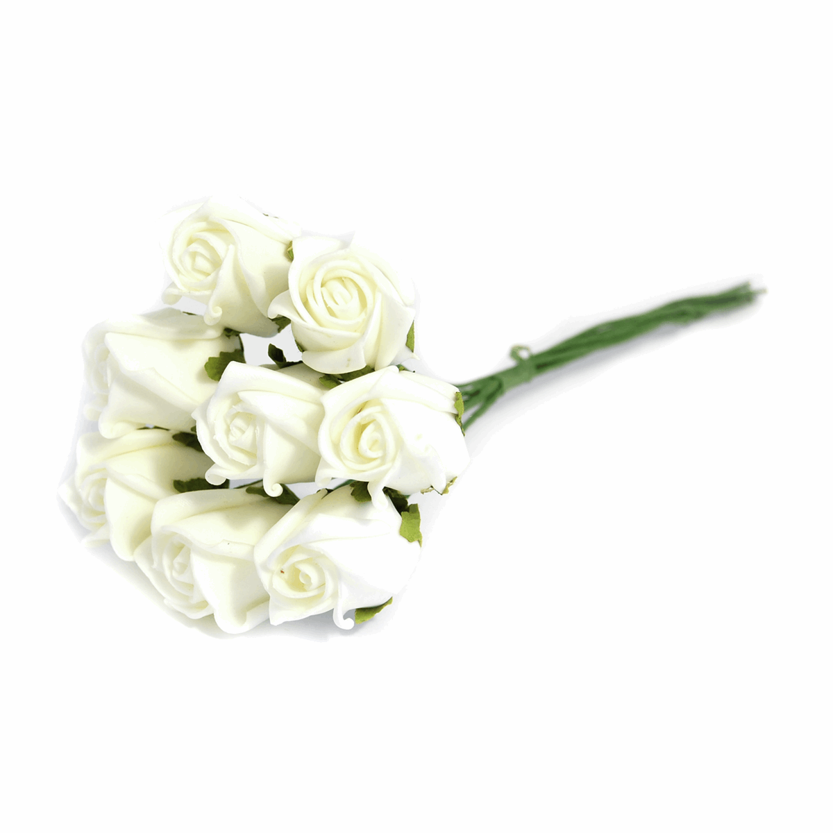 Picture of Flowers: Rose Buds: Polyfoam: Pack of 8: Ivory