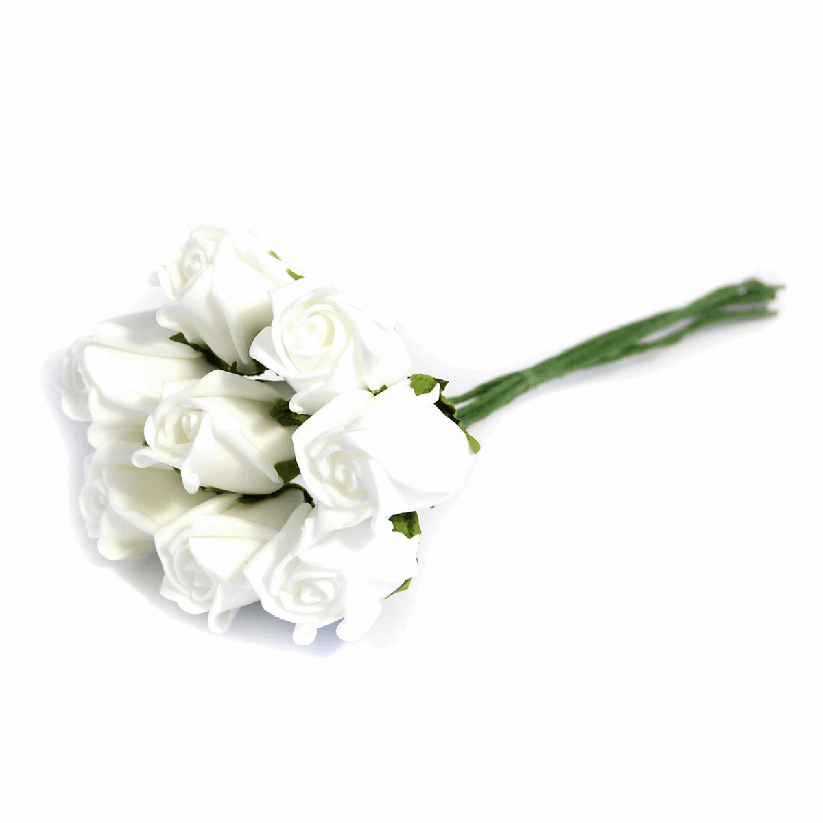 Picture of Flowers: Rose Buds: Polyfoam: Pack of 8: White
