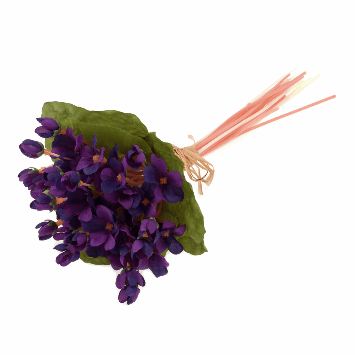 Picture of Flowers: Violet Bunch: 23 Stem with Raffia Tie: 27cm