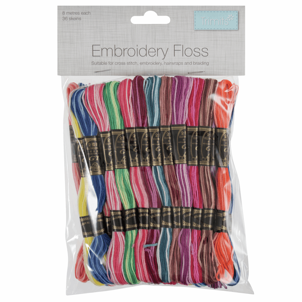 Picture of Stranded Cotton: Rainbow Colours: 36 Skeins