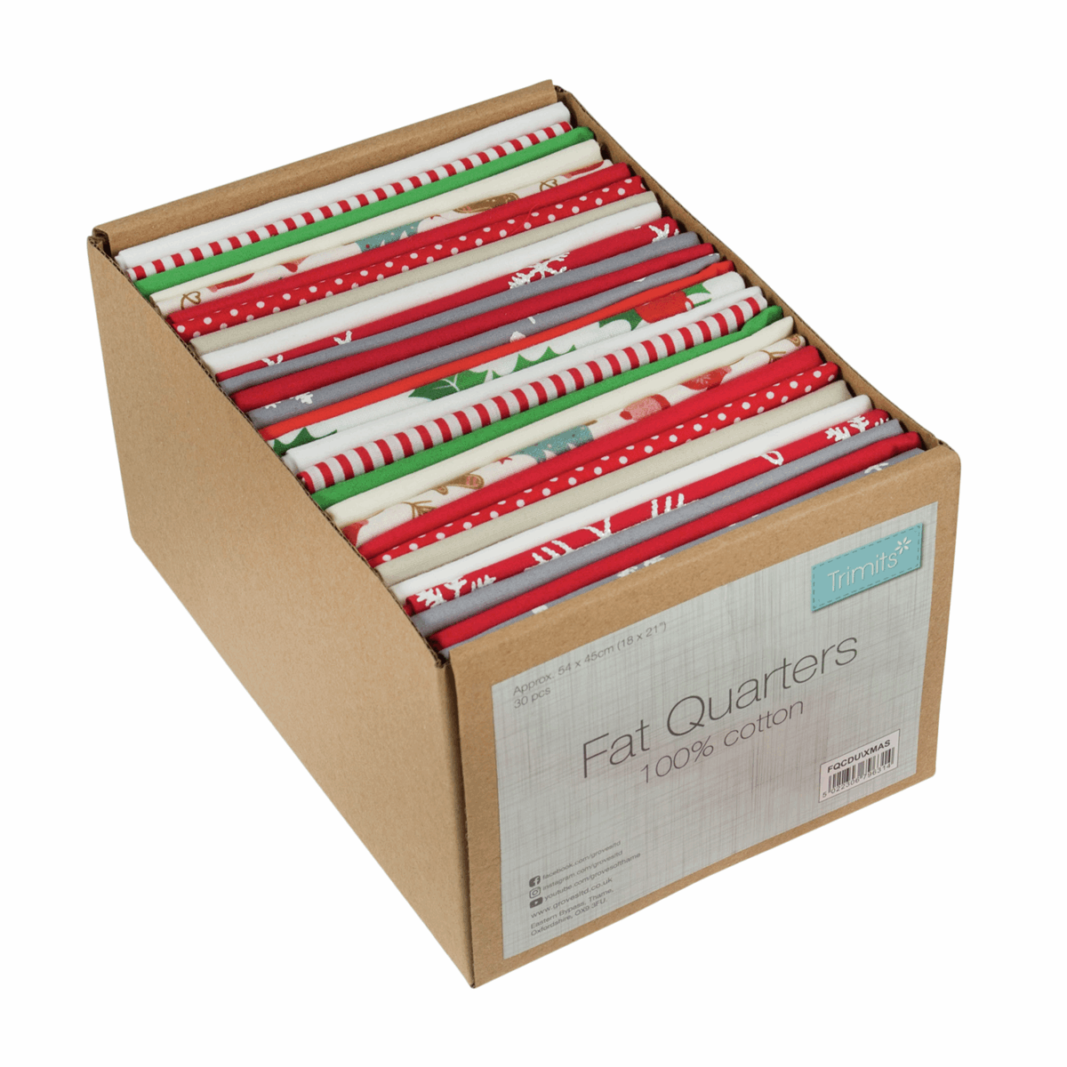 Picture of Counter Display Unit: Fat Quarters: Christmas Mix: 30 Pieces