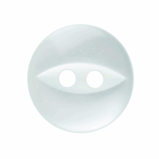 Picture of Polyester Fish Eye Button: 18 lignes/11mm: Pale Teal