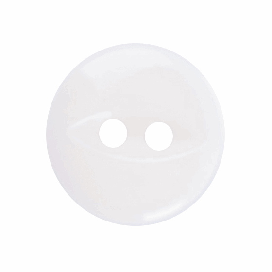 Picture of Polyester Fish Eye Button: 18 lignes/11mm: White