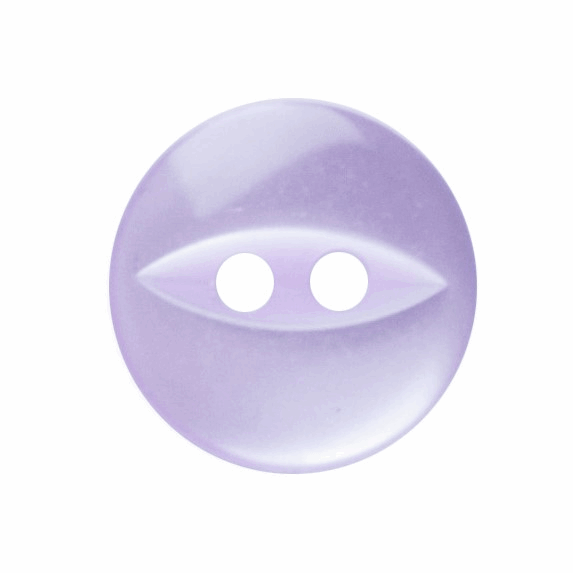 Picture of Polyester Fish Eye Button: 18 lignes/11mm: Lilac