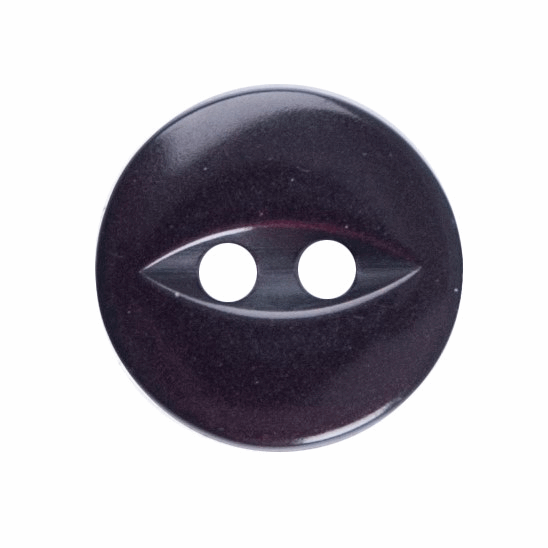 Picture of Polyester Fish Eye Button: 18 lignes/11mm: Burgundy