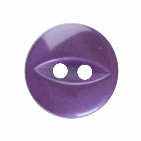 Picture of Polyester Fish Eye Button: 18 lignes/11mm: Purple