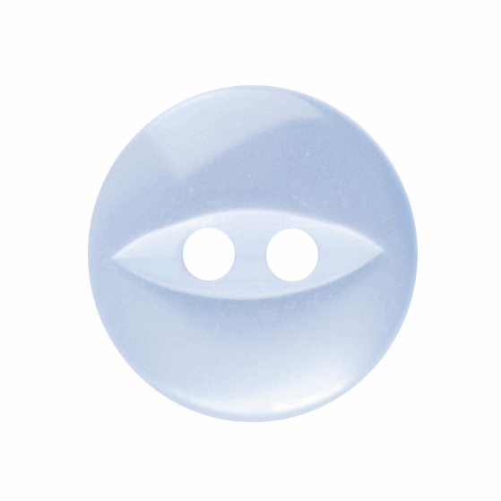 Picture of Polyester Fish Eye Button: 18 lignes/11mm: Light Blue