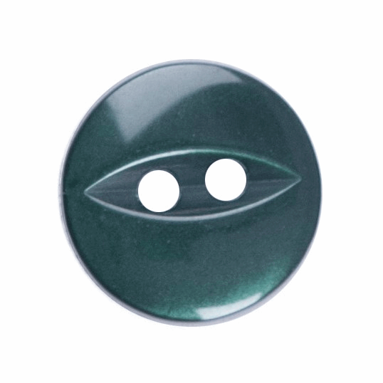 Picture of Polyester Fish Eye Button: 18 lignes/11mm: Dark Green