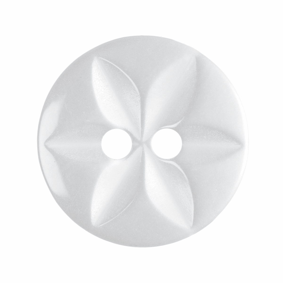 Picture of Polyester Star Button: 22 lignes/14mm: White