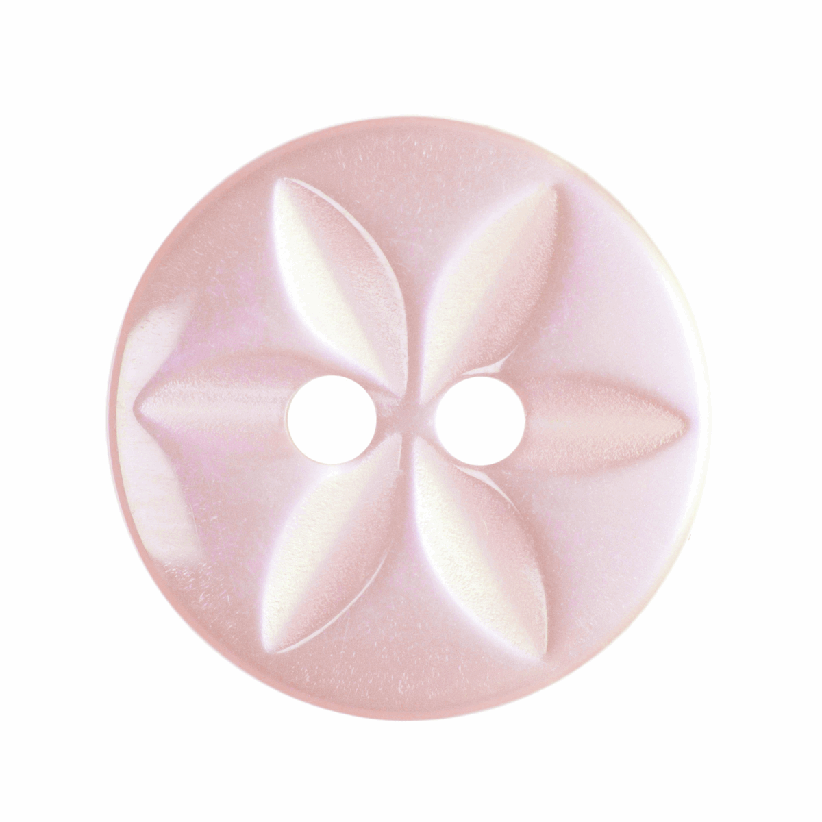 Picture of Polyester Star Button: 22 lignes/14mm: Pale Pink
