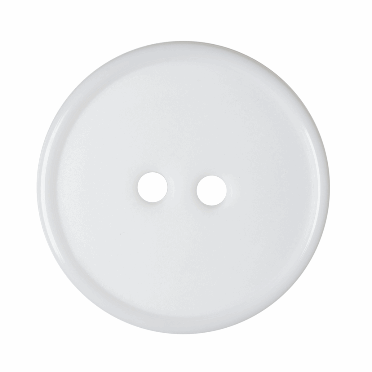 Picture of Flat Top Narrow Rim Button: 2-Hole: 32 lignes/20mm: White