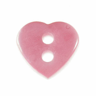 Picture of Heart Button: 18 lignes/11mm: Light Pink