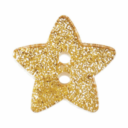 Picture of Star Glitter Button: 28 lignes/18mm: Gold