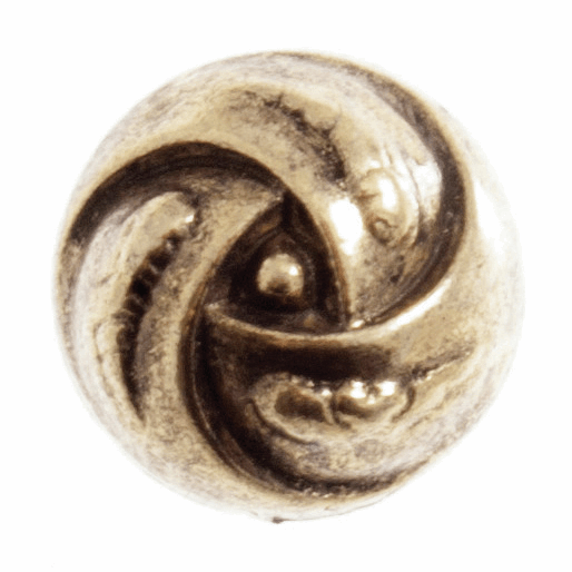 Picture of Metal Rose Swirl Button: 24 lignes/15mm: Gold