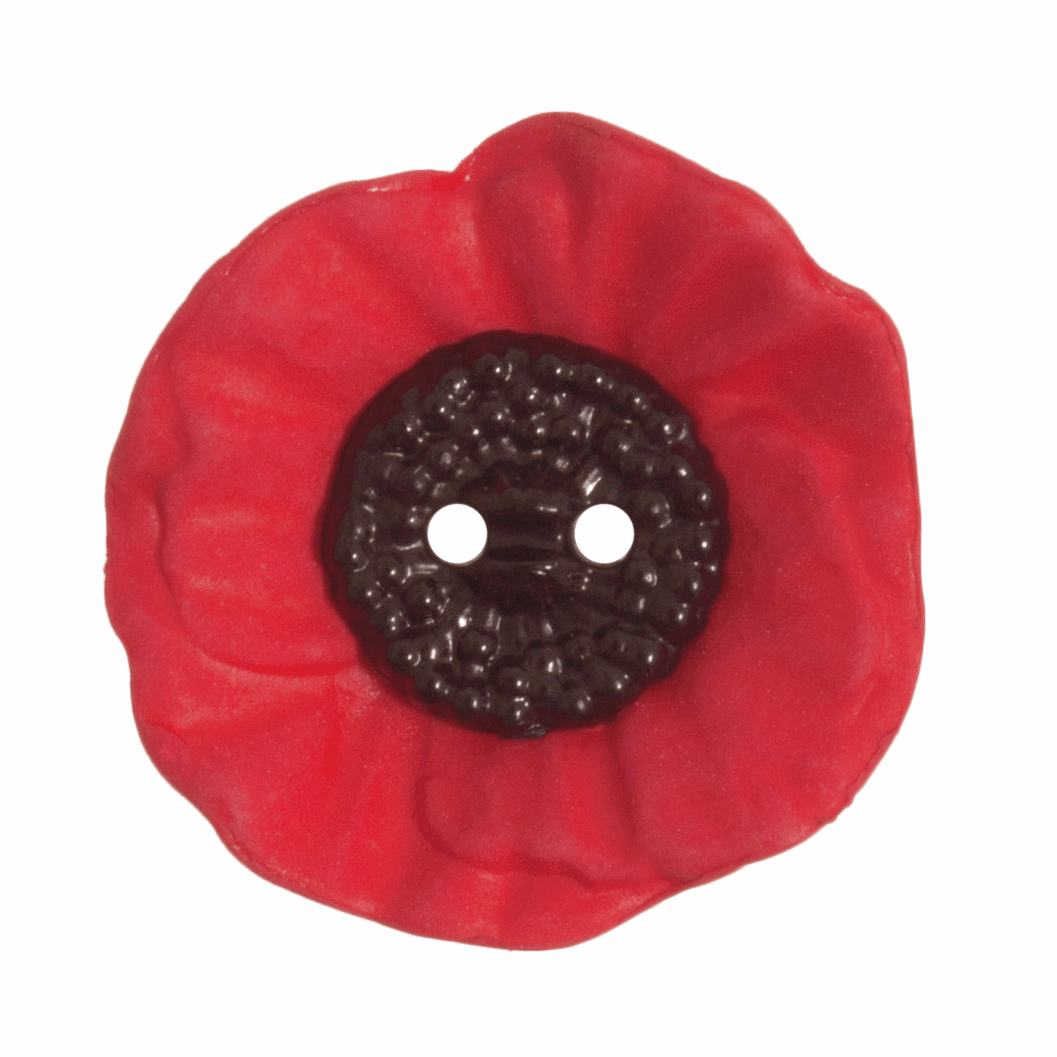 Picture of Poppy Button: 2 Hole: 28mm