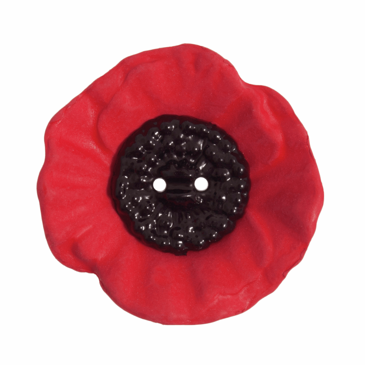 Picture of Poppy Button: 2 Hole: 41mm