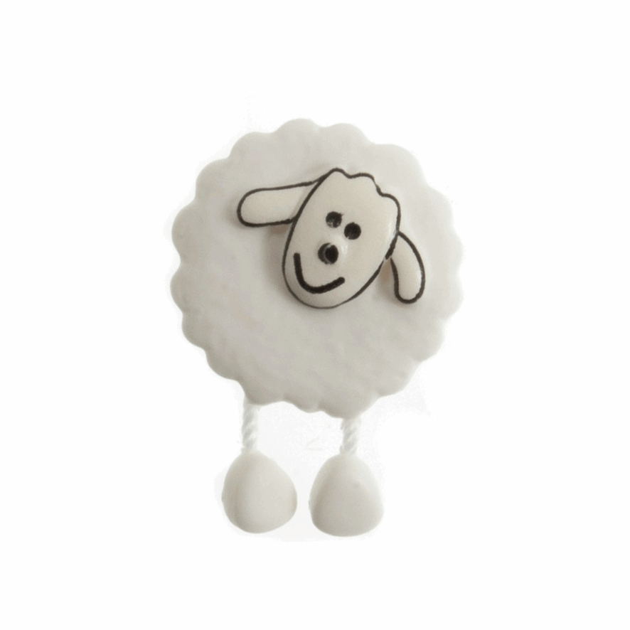 Picture of Dangly Legged Sheep: 28 lignes/18mm: Pack 20: White