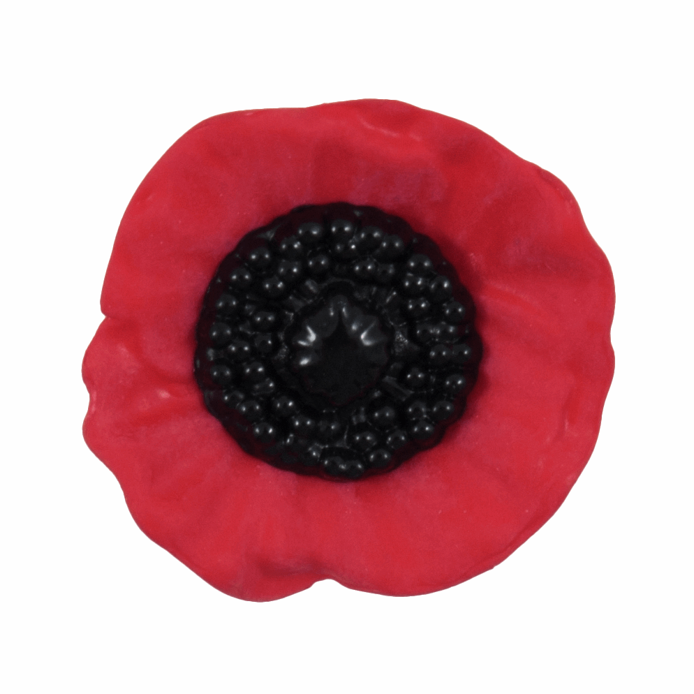 Picture of Poppy Button: Shank: 20mm