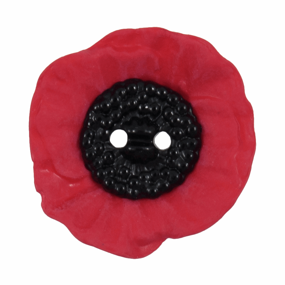 Picture of Poppy Button: 2 Hole: 20mm