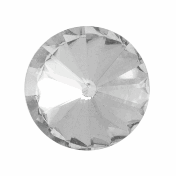 Picture of Diamante Faceted Button: Shank: 8mm: Clear