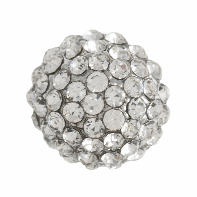 Picture of Diamante Dome Button: Shank: 12mm: Silver
