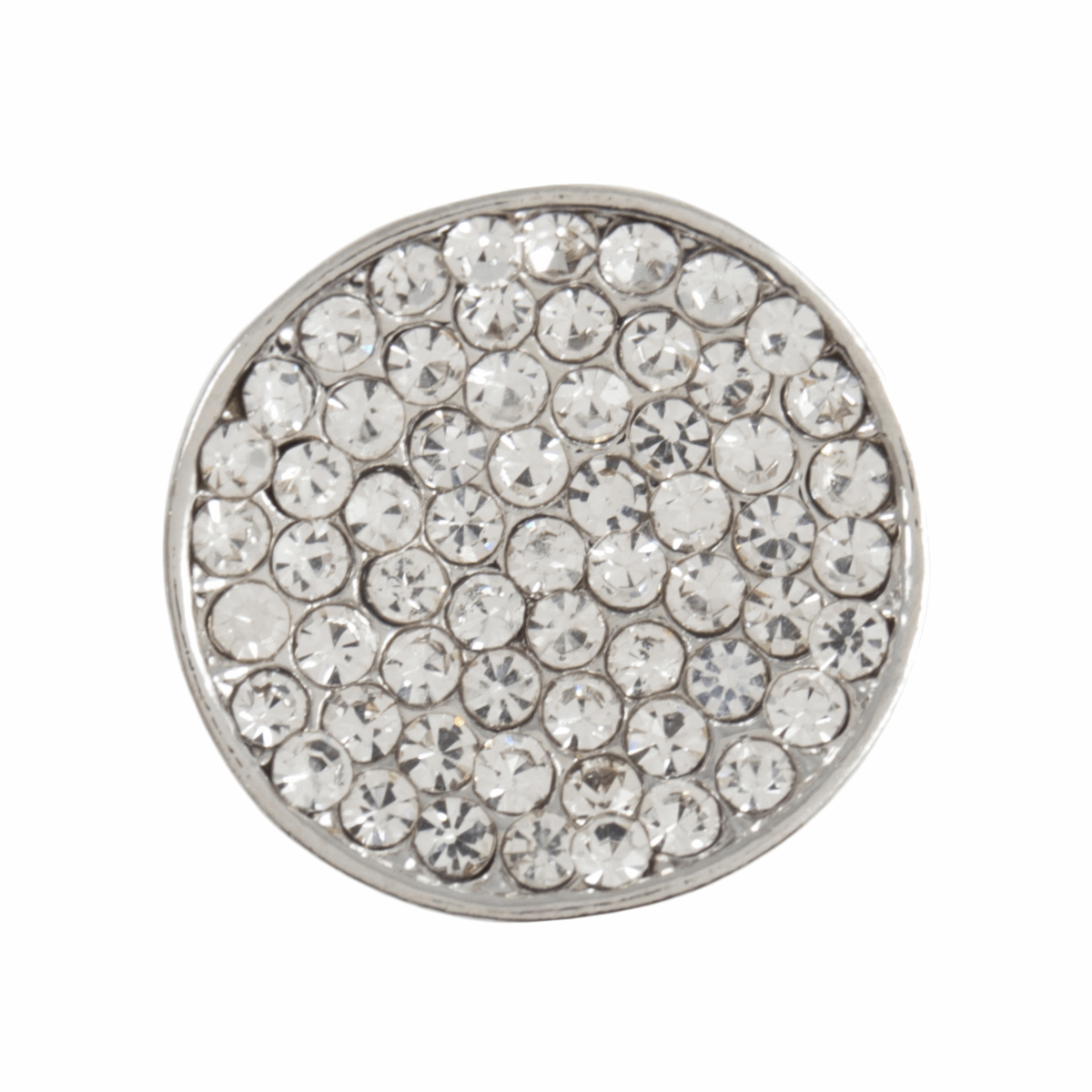 Picture of Diamante Shank Button: Concave Encrusted: 18mm: Silver