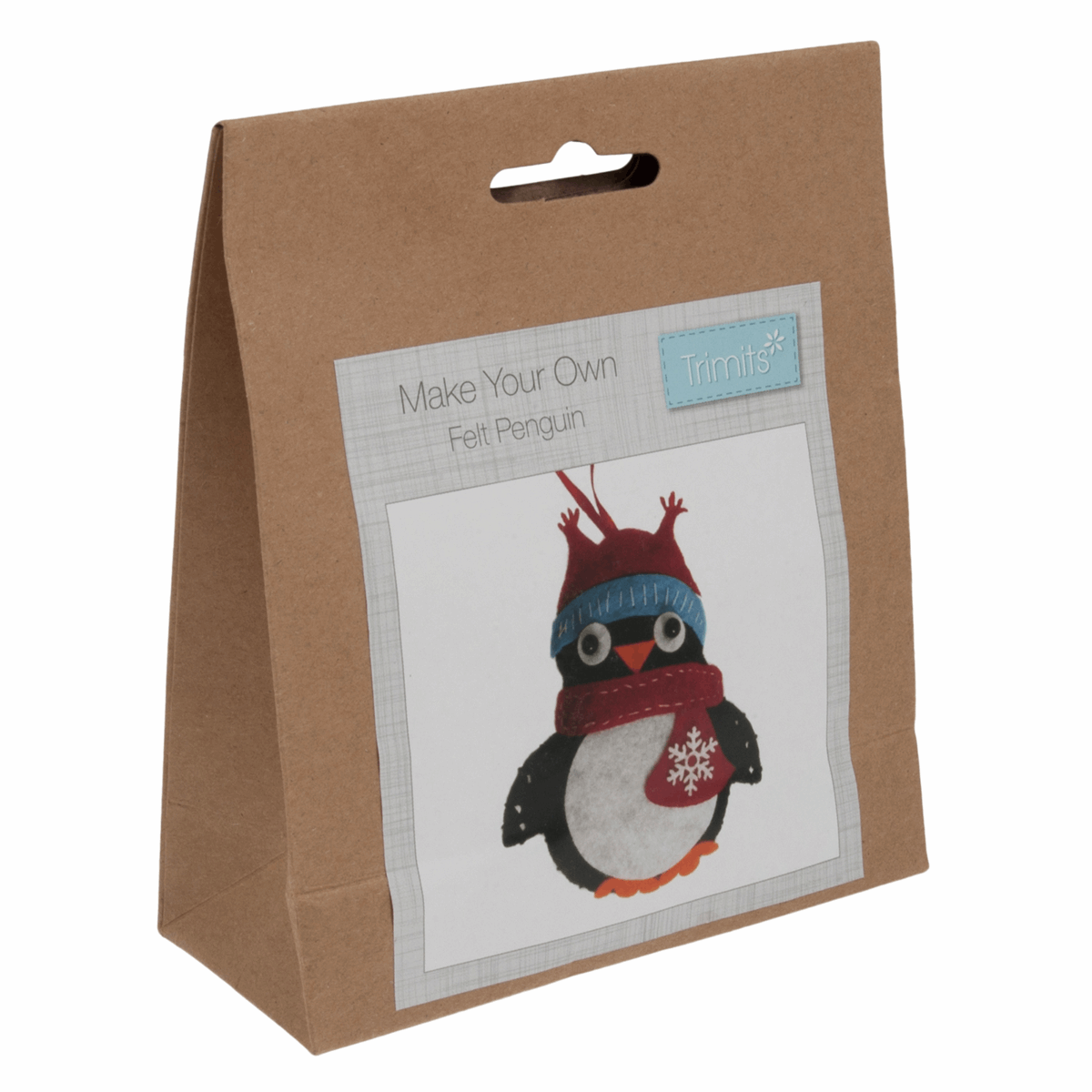Picture of Felt Decoration Kit: Christmas: Penguin