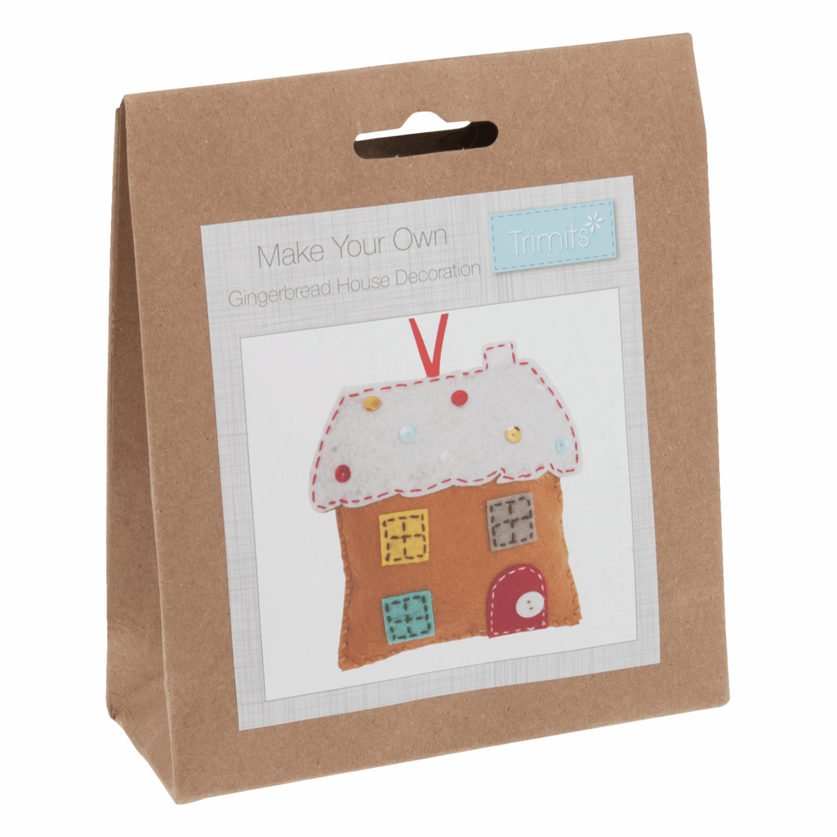 Picture of Felt Decoration Kit: Christmas: Gingerbread House