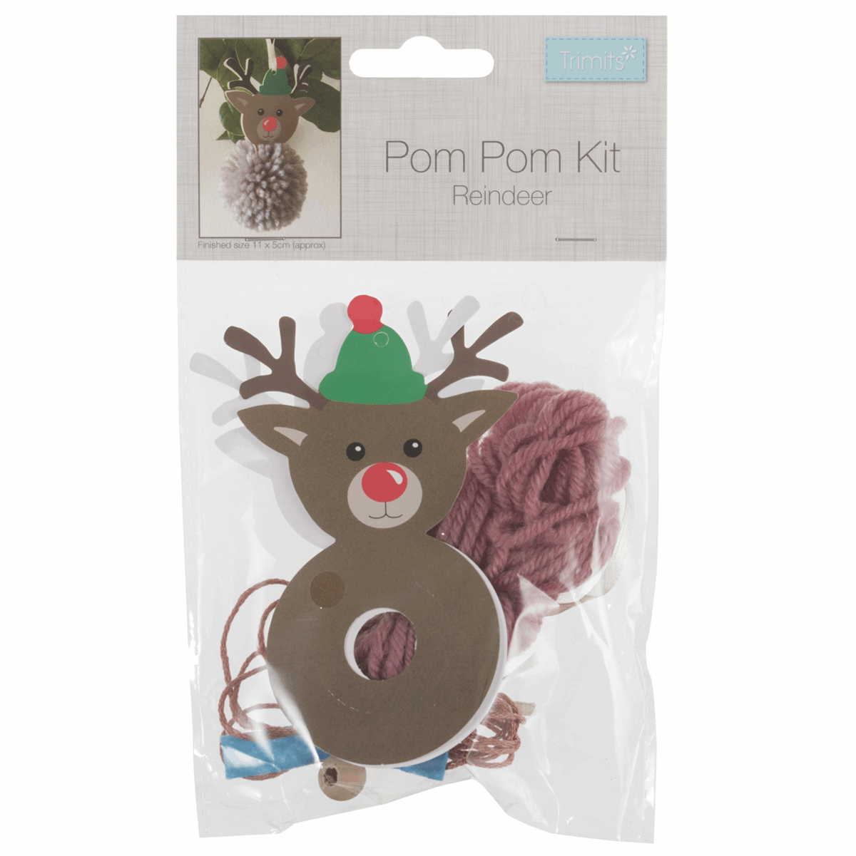 Picture of Pom Pom Decoration Kit: Reindeer: Pack of 1