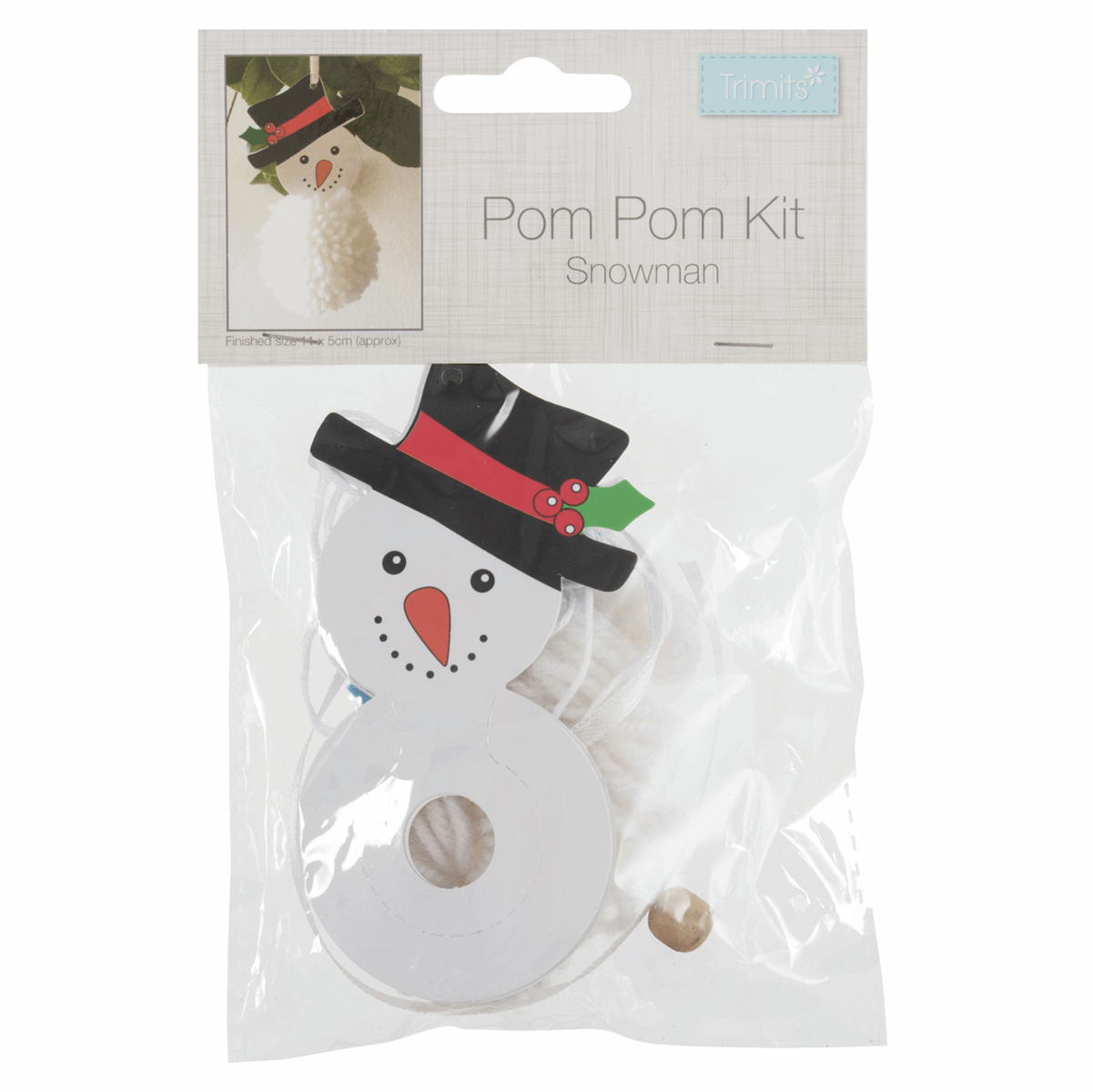 Picture of Pom Pom Decoration Kit: Snowman: Pack of 1