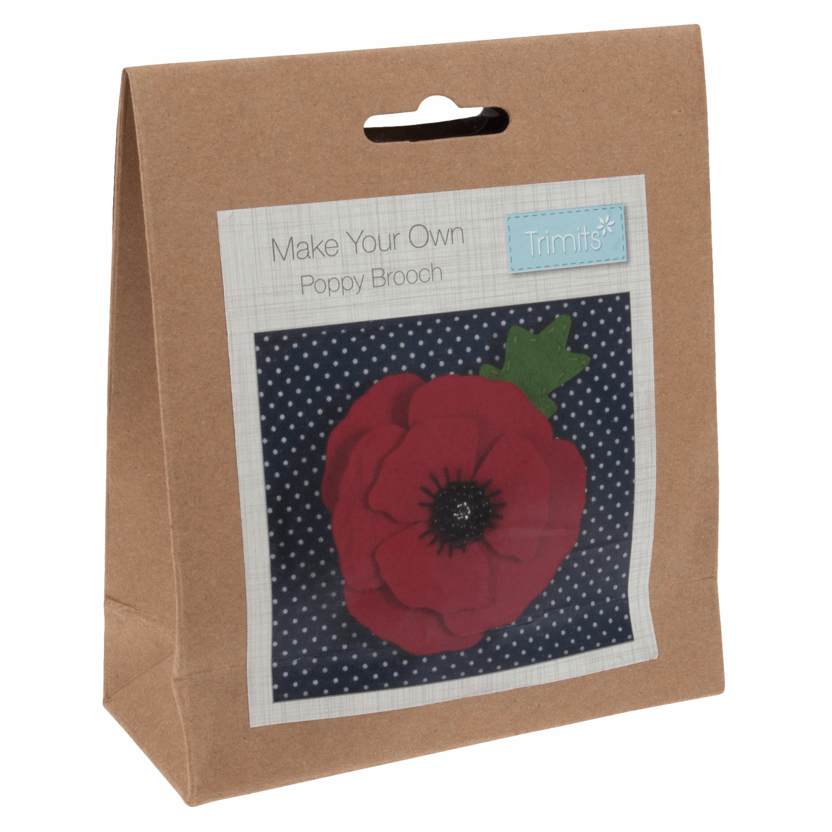 Picture of Felt Decoration Kit: Poppy Brooch