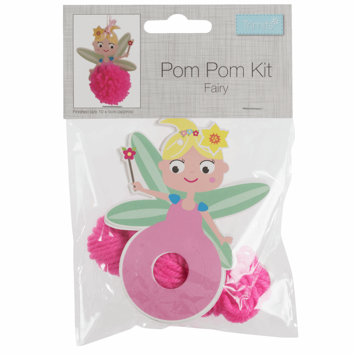 Picture of Pom Pom Decoration Kit: Fairy: Pack of 4