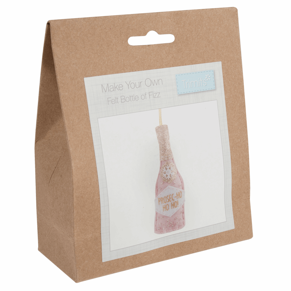 Picture of Felt Decoration Kit: Christmas: Bottle of Fizz