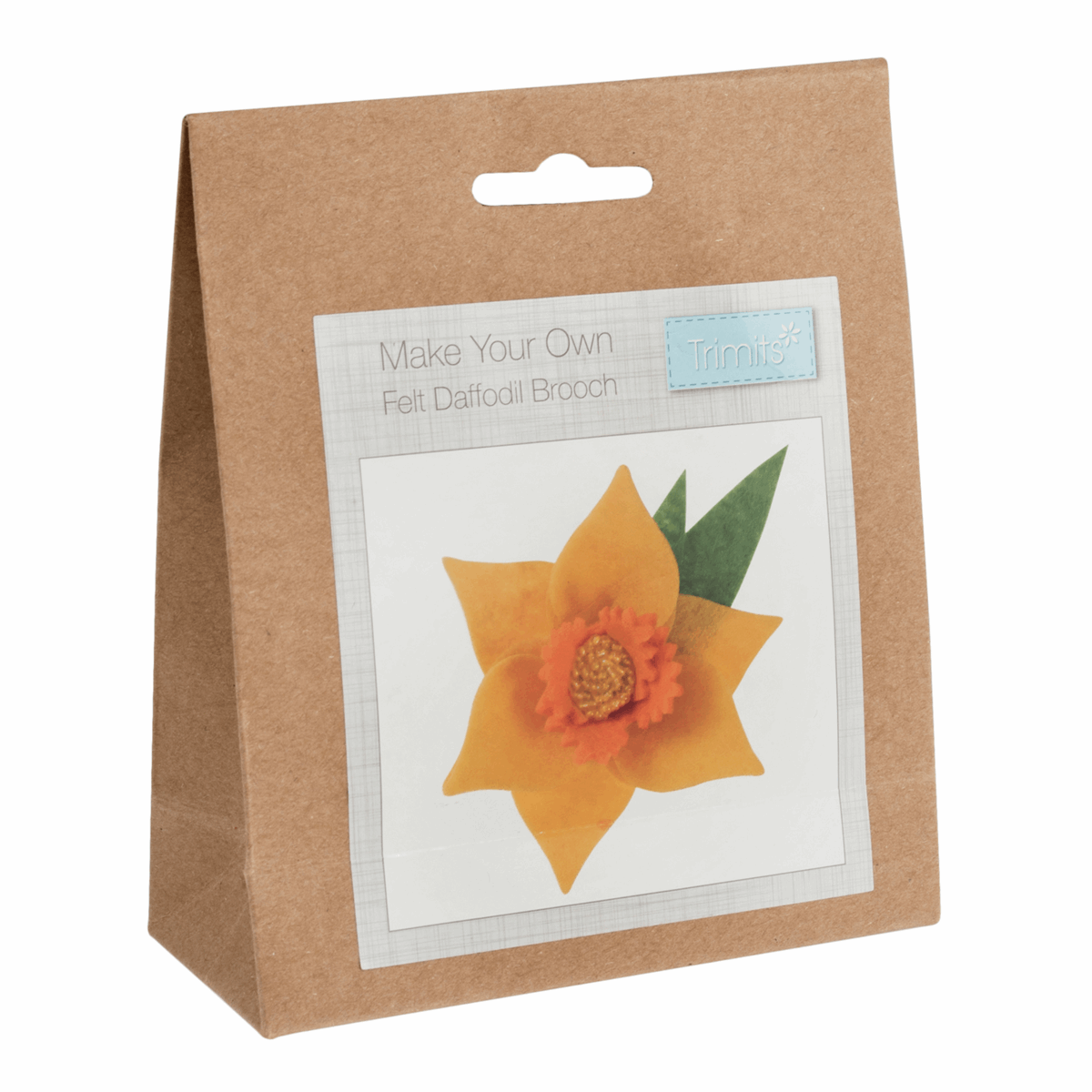 Picture of Felt Decoration Kit: Daffodil Brooch