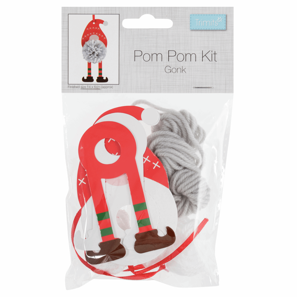 Picture of Pom Pom Decoration Kit: Christmas: Gonk: Pack of 1