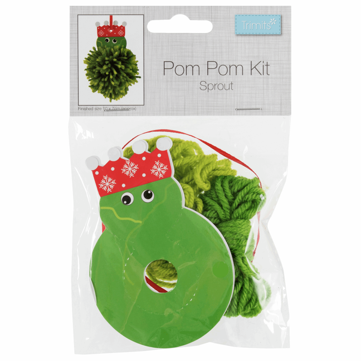 Picture of Pom Pom Decoration Kit: Christmas: Sprout: Pack of 1