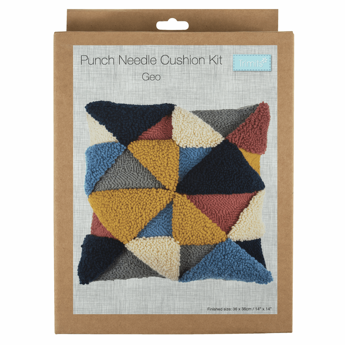 Picture of Punch Needle Kit: Cushion: Geo