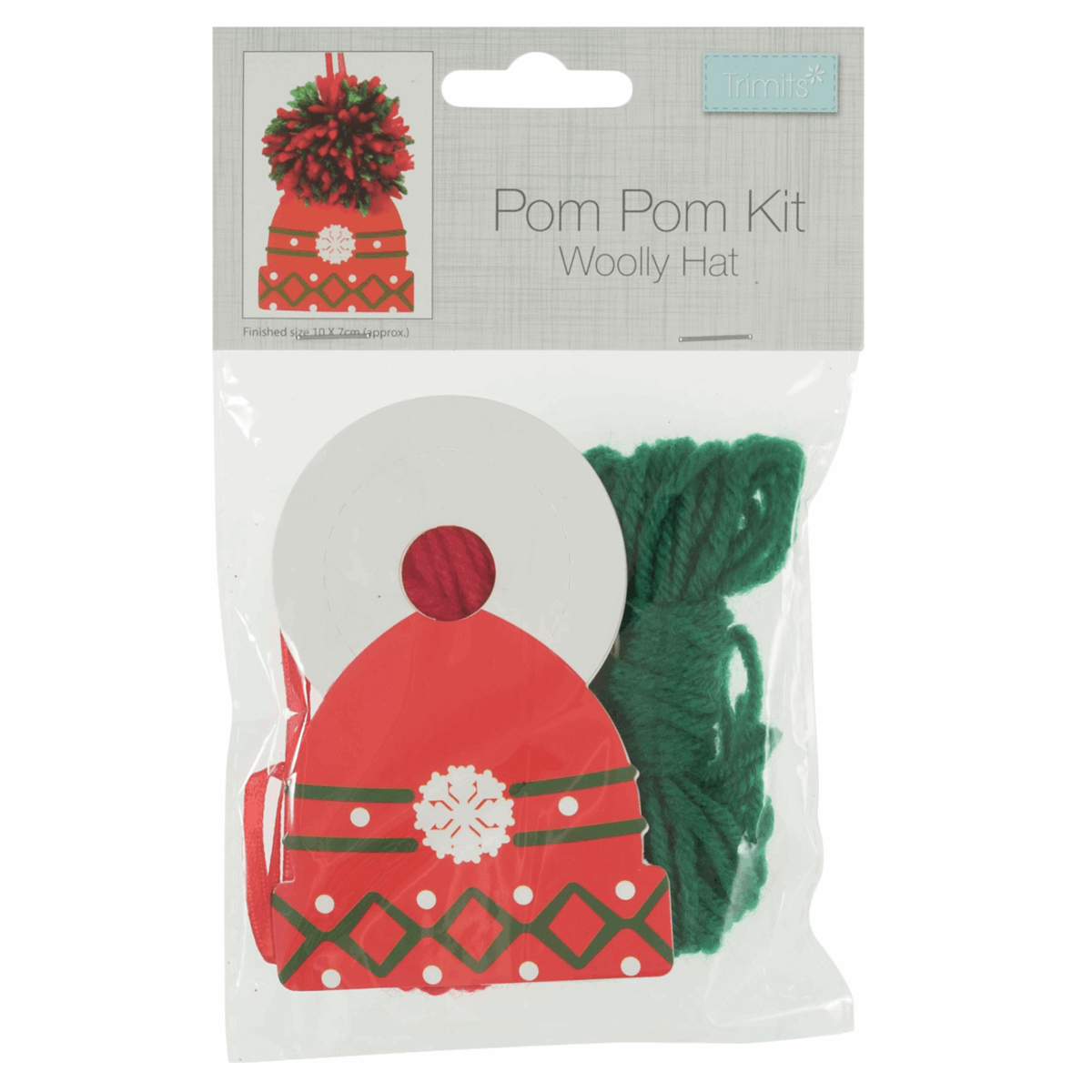 Picture of Pom Pom Decoration Kit: Woolly Hat