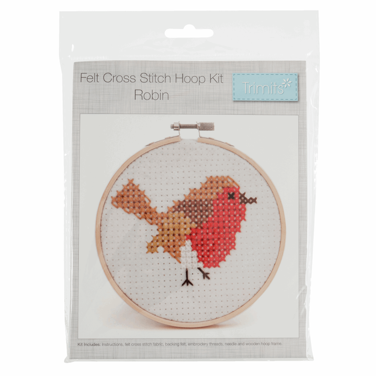 Picture of Cross Stitch Kit with Hoop: Robin