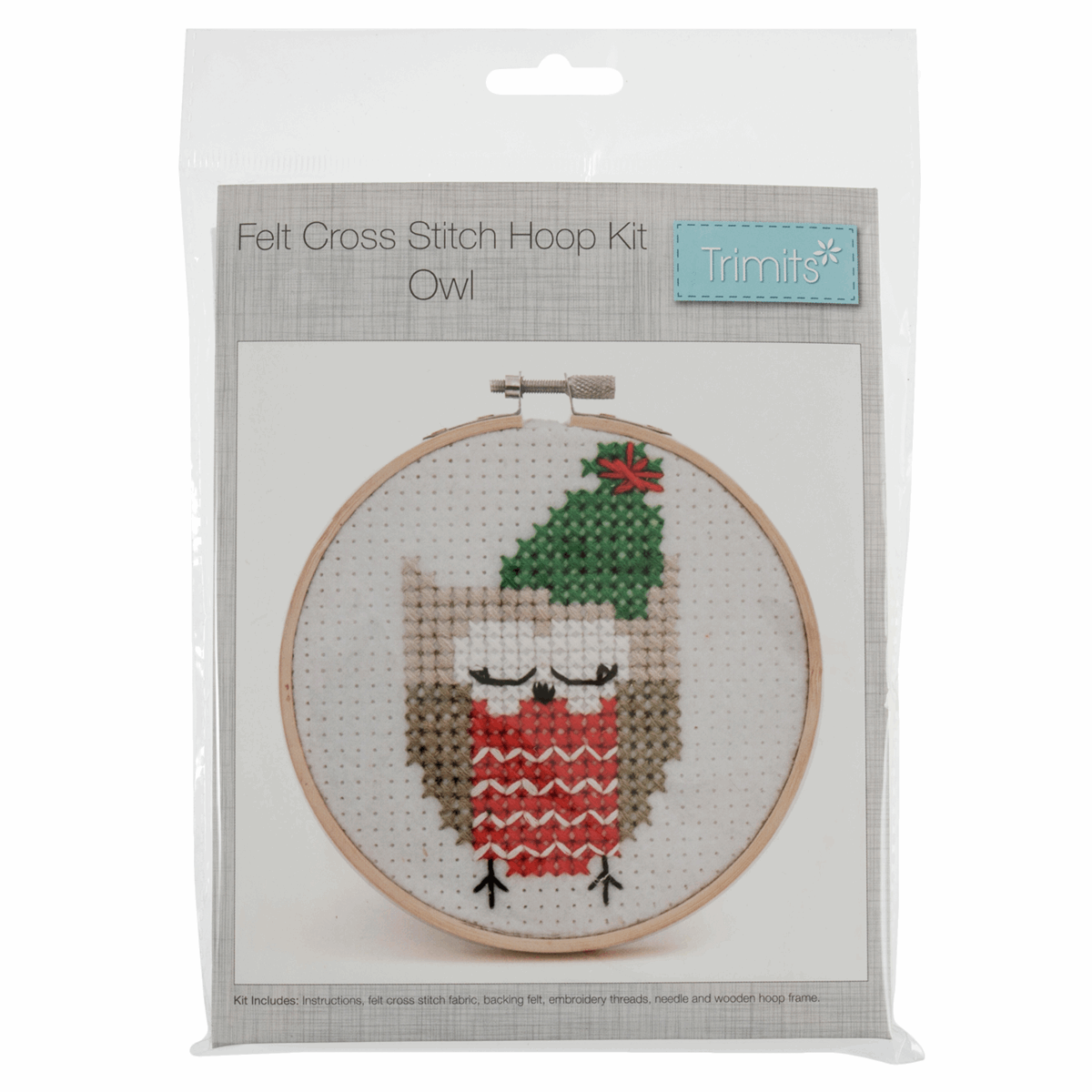 Picture of Cross Stitch Kit with Hoop: Owl