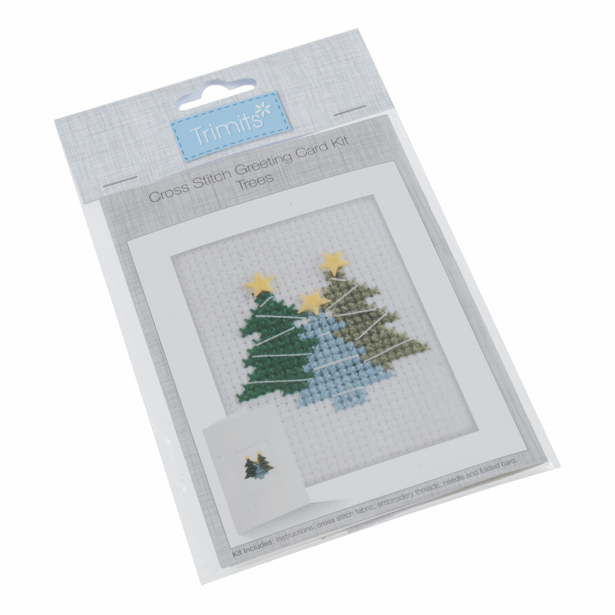 Picture of Cross Stitch Kit: Card: Trees