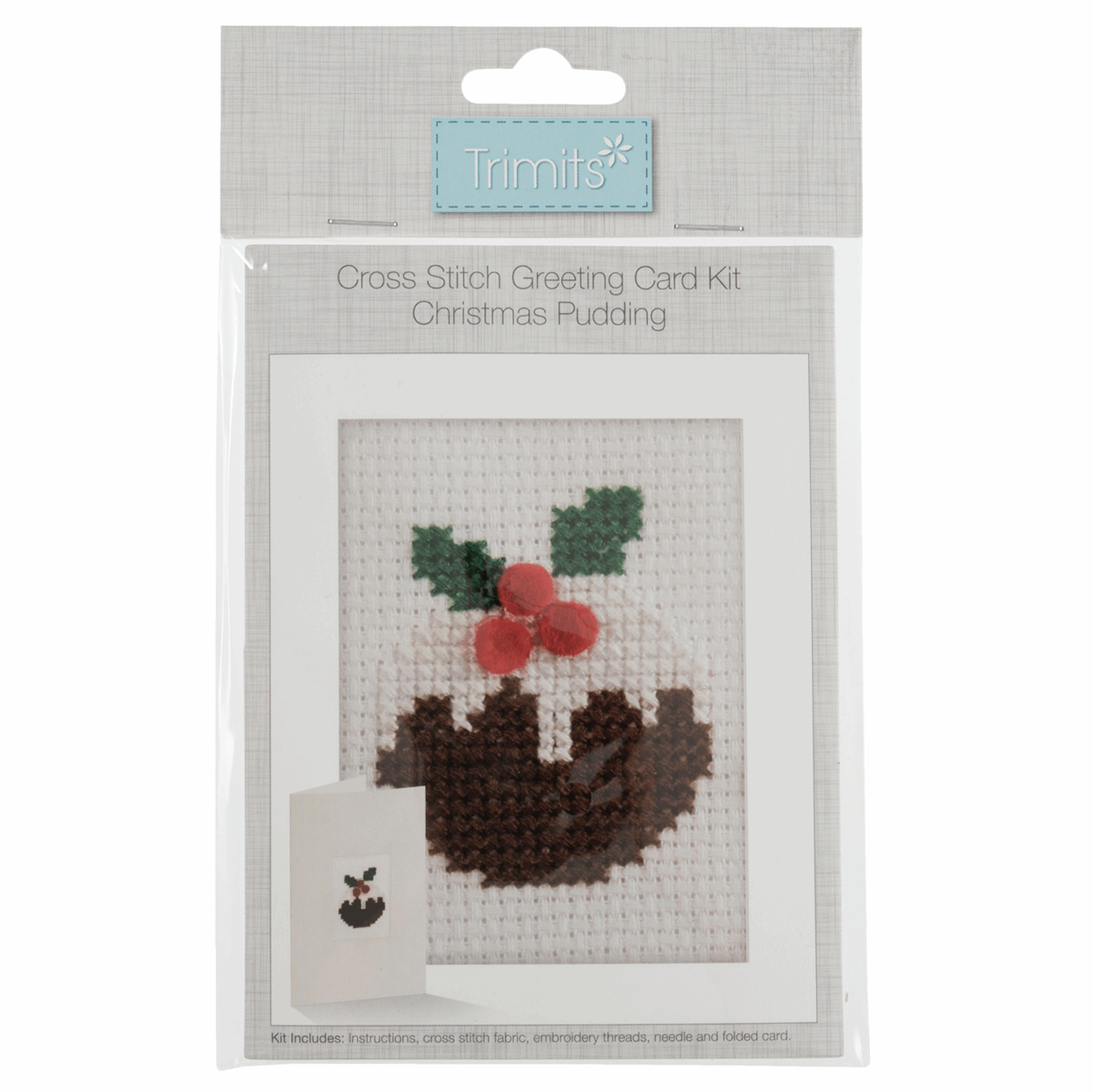 Picture of Cross Stitch Kit: Card: Christmas Pudding